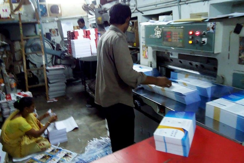 Printing tracts in India