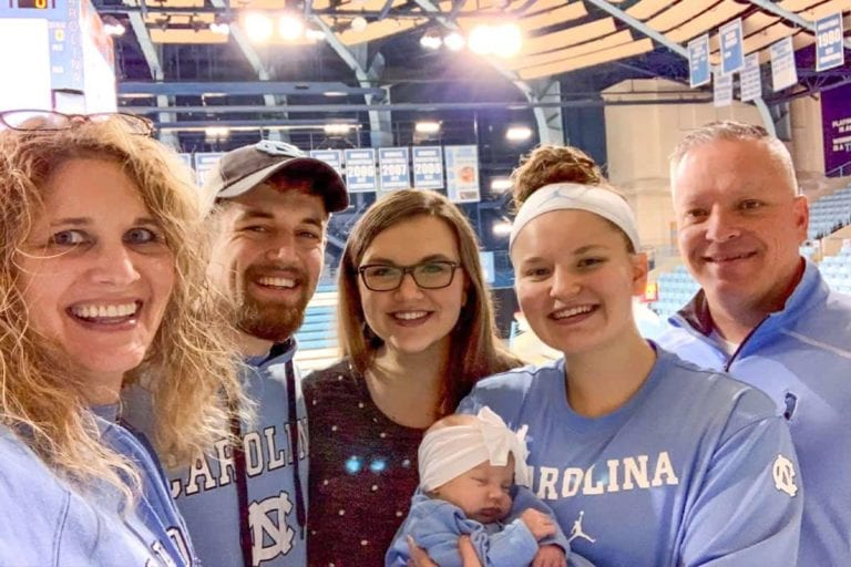 Craig Church Family at UNC Game